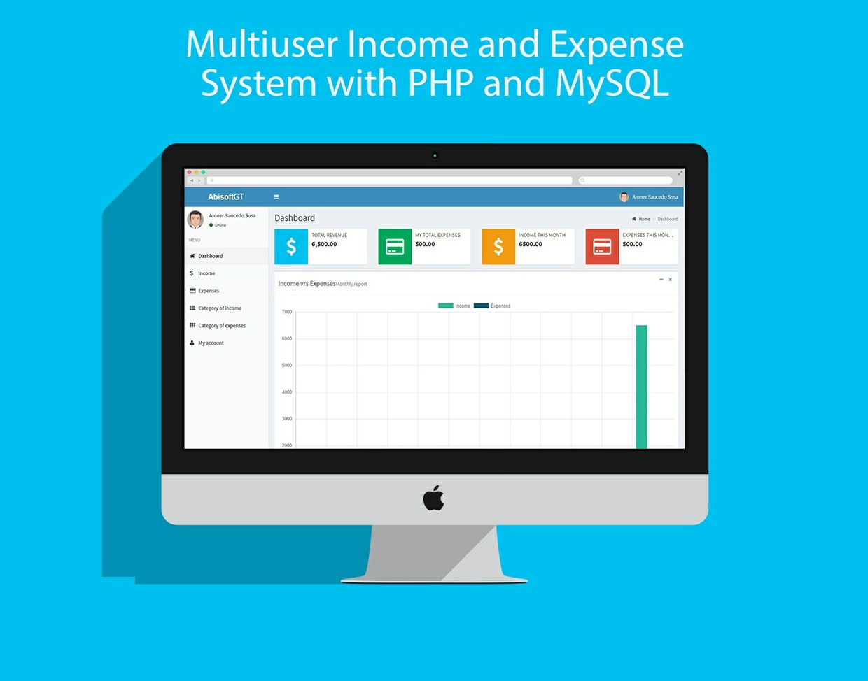 Multiuser Income and Expense System with PHP and MySQL